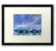 Fishing Fleet Fremantle WA - HDR Framed Print