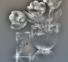 Tulips - lightpainted still life (alternate version) by Alexey Kljatov
