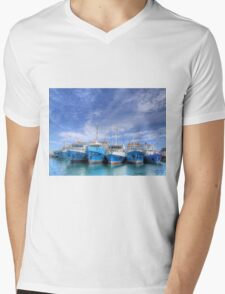 Fishing Fleet Fremantle WA - HDR Mens V-Neck T-Shirt