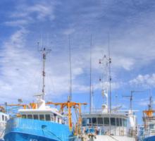 Fishing Fleet Fremantle WA - HDR Sticker