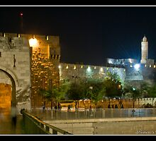 Jaffa Gate and David tower by Ronen Abraham