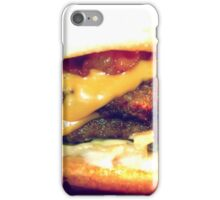 Double.Bacon.Cheeseburger iPhone Case/Skin