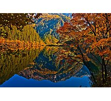 Autumn Reflection in Mirror Lake, Jiuzhaigou Photographic Print