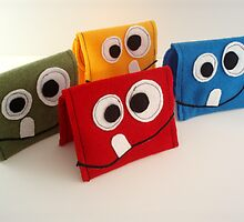 Childrens Monster Wallets by GiglingGoldfish