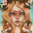Solstice fox woman portrait by MoonSpiral