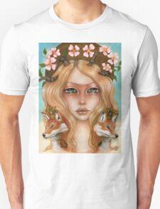 Solstice fox woman portrait T-Shirt
