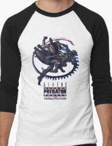 Alien VS Predator VS Terminator Men's Baseball ¾ T-Shirt