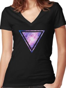 Cosmic vacuum cleaner (Spiral Galaxy M83) Women's Fitted V-Neck T-Shirt