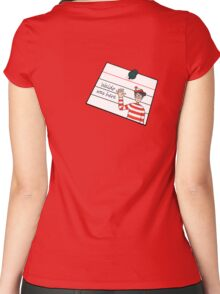 Waldo Was Here - Post it Women's Fitted Scoop T-Shirt