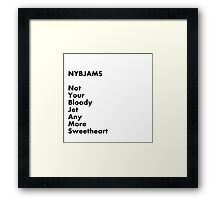 NYBJAMS Framed Print