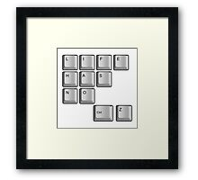 life has no ctrl z Framed Print