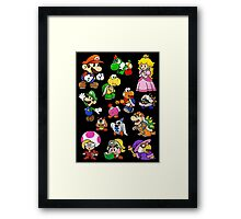 Paper Mario Collection Framed Print