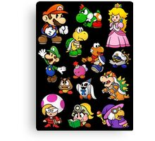 Paper Mario Collection Canvas Print