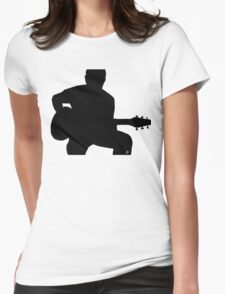 Rock_Licks Guitar   Womens Fitted T-Shirt