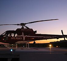 Waiting for a patient at sunset. by FLY911