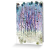 Light Blue Reeds-Available As Art Prints-Mugs,Cases,Duvets,T Shirts,Stickers,etc Greeting Card