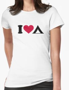 I love tent camping Womens Fitted T-Shirt