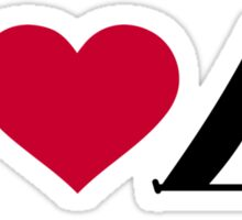 I love tent camping Sticker