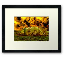 Zoe and the Ancient remnant Eucalyptus Viminalis Framed Print