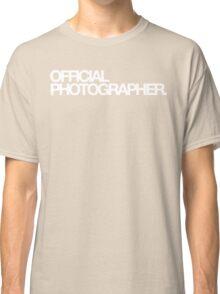 Official Photographer Classic T-Shirt