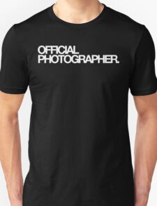 Official Photographer T-Shirt