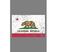 Grunge Cali Flag Photographic Print