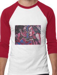 Lovers - Valentine Kiss Men's Baseball ¾ T-Shirt