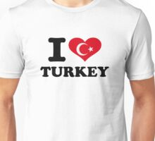 I love turkey flag Unisex T-Shirt