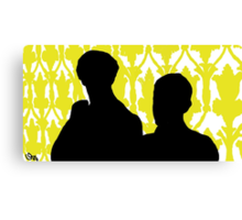 Sherlock and John Silhouette  Canvas Print
