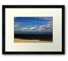 Beach in September Framed Print