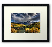 Mt Sneffels in Fall Color Framed Print