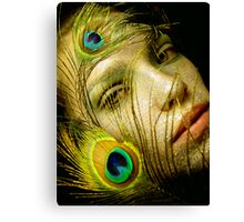 Lady Peacock Canvas Print