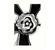 Black and White Doodle, Pen and Ink Art Print