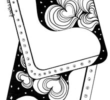 Cards, Black and White Doodle, Pen and Ink by Danielle J. Scott (Smith)
