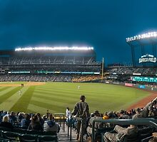 Safeco Right Field Night Panorama by TomGreenPhotos
