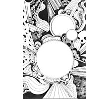 Black and White Doodle, Pen and Ink Photographic Print