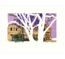 Drawing : Rathdowne Street, Melbourne Art Print