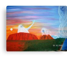 SURRENDER OF THE MASCULINE Canvas Print