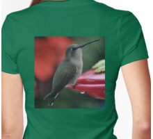HUMMINGBIRD ANNA'S ON PERCH Womens Fitted T-Shirt