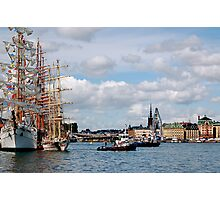 Tall Ship in harbor Photographic Print