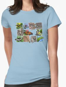 Collage of Australian Native Wildlife, WOMENS Womens Fitted T-Shirt