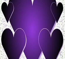 Purple Hearts-Available As Art Prints-Mugs,Cases,Duvets,T Shirts,Stickers,etc by Robert Burns