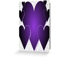 Purple Hearts-Available As Art Prints-Mugs,Cases,Duvets,T Shirts,Stickers,etc Greeting Card