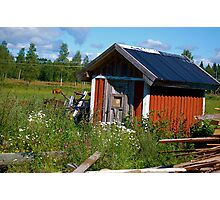 Country Shed Photographic Print