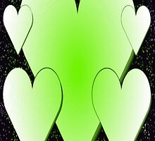 Green Hearts 2-Available As Art Prints-Mugs,Cases,Duvets,T Shirts,Stickers,etc by Robert Burns