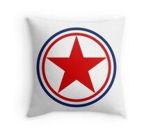 Roundel of the North Korean Air Force Throw Pillow