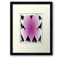 Pink Hearts-Available As Art Prints-Mugs,Cases,Duvets,T Shirts,Stickers,etc Framed Print