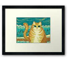 Cat And Pollen Framed Print