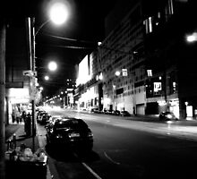 Night streetscape of Melbourne - Photo by Xan by straylight