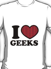 I Love Geeks Binary (Red) T-Shirt